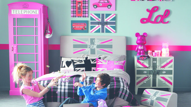 Ambiance chambre b b london - Deco chambre fille london ...