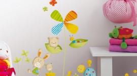 ambiance chambre bébé stickers