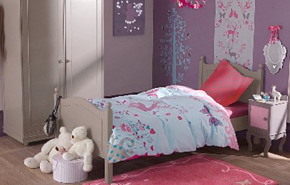 ambiance chambre fille gris et rouge. Black Bedroom Furniture Sets. Home Design Ideas