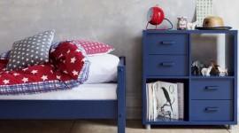 ambiance chambre garçon bleu