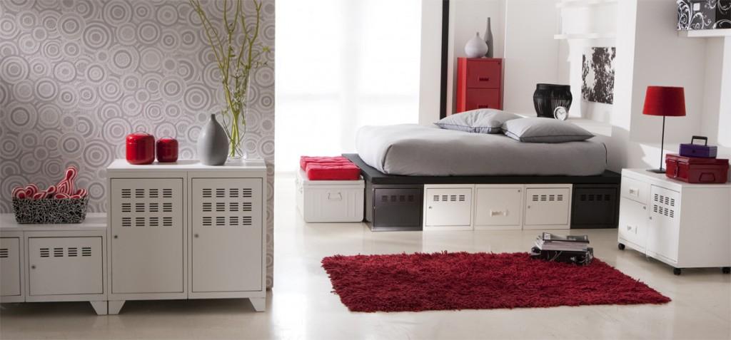 Ambiance chambre gris et blanc for Deco maison blanc et gris