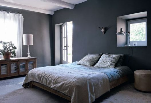 ambiance chambre gris et blanc. Black Bedroom Furniture Sets. Home Design Ideas