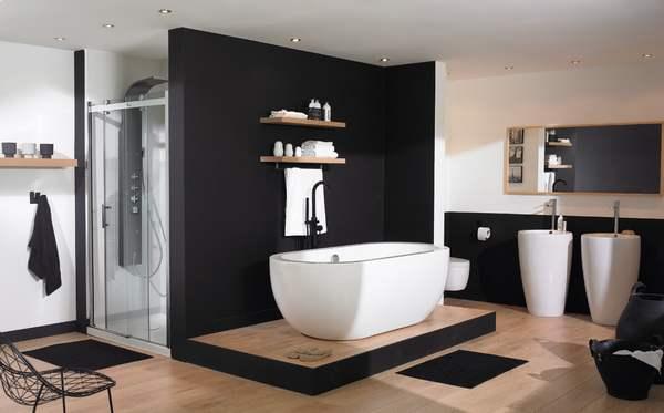 Inspiration ambiance salle de bain moderne for Maison deco salle de bain