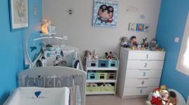 déco chambre bébé bleu