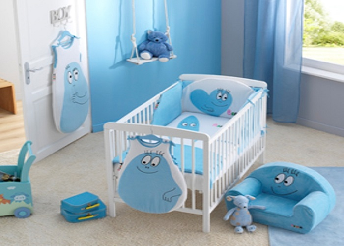 Photo d co chambre b b bleu for Decoration de chambre de bebe