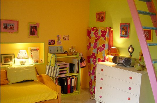 Conseil d co chambre b b orange for Chambre orange et vert bebe