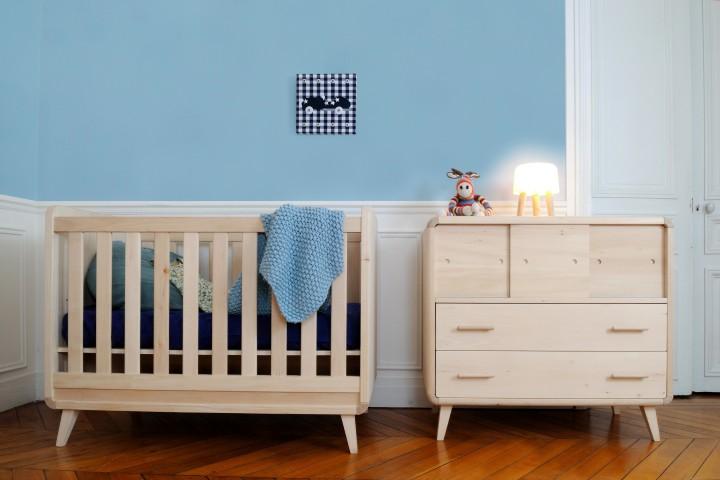 D co chambre b b zen for Decoration maison chambre bebe