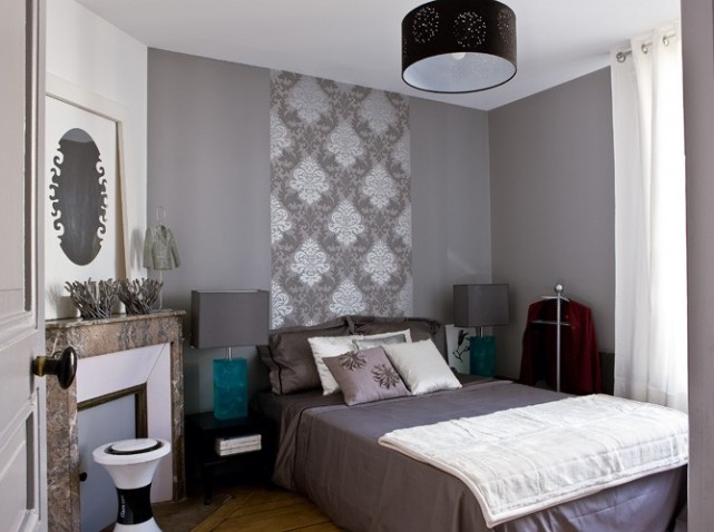 Mod le d co chambre gris for Exemple de chambre moderne