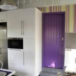 déco cuisine violet