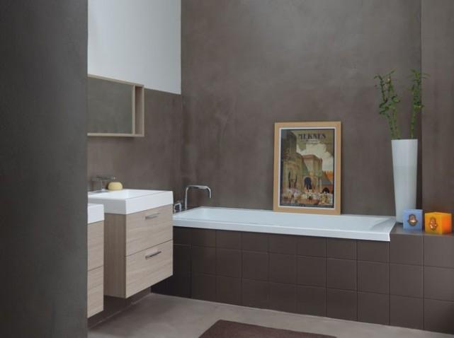 Conseil d co salle de bain grise for Peinture carrelage sdb