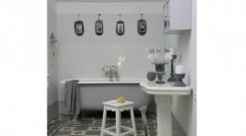 déco salle de bain grise