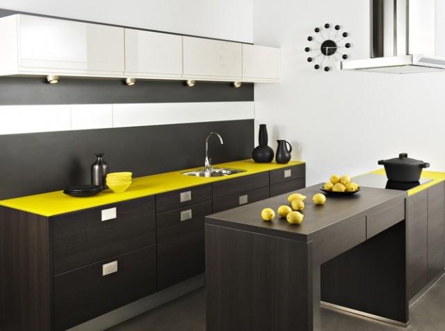Inspiration d coration cuisine jaune for Deco cuisine jaune pale