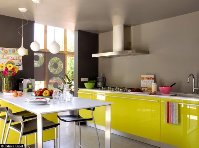 Quelle d coration cuisine jaune for Decoration maison cuisine
