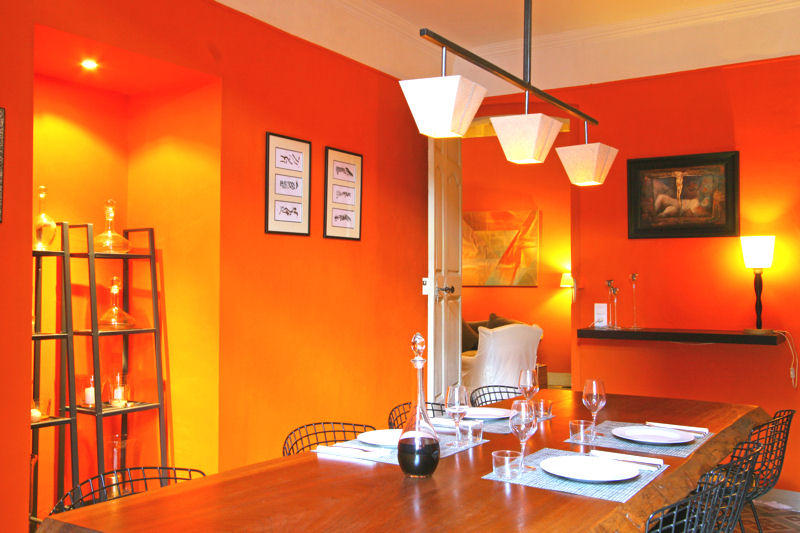 Inspiration d coration cuisine orange for Deco cuisine orange blanc