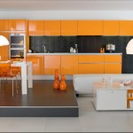 décoration cuisine orange