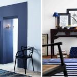 décoration salle à manger bleu