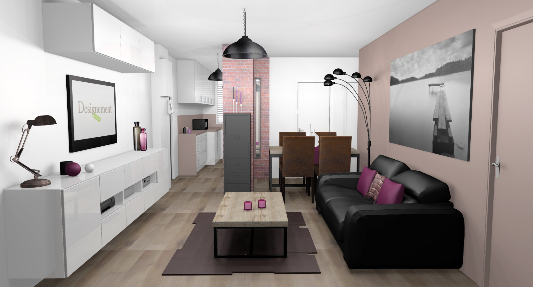 Best salle a manger gris et prune images amazing house for Salon gris et prune