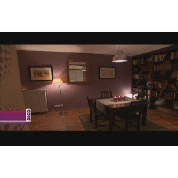 D coration salle manger prune for Deco salon salle a manger moderne