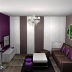 décoration salle à manger prune