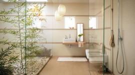 décoration salle de bain beige