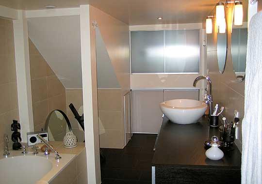 Photo d coration salle de bain beige for Maison deco salle de bain