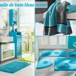 décoration salle de bain bleu