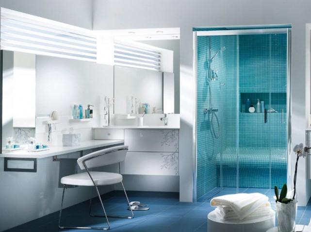 Quelle Decoration Salle De Bain Bleu