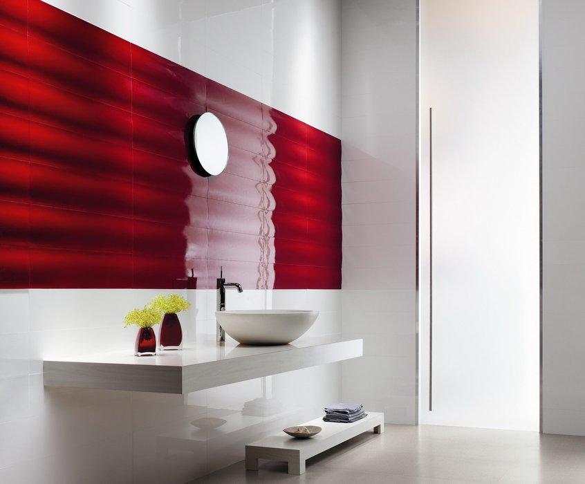 Photo d coration salle de bain rouge - Deco salle de bain rouge ...