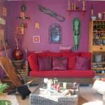 décoration salon ethnique