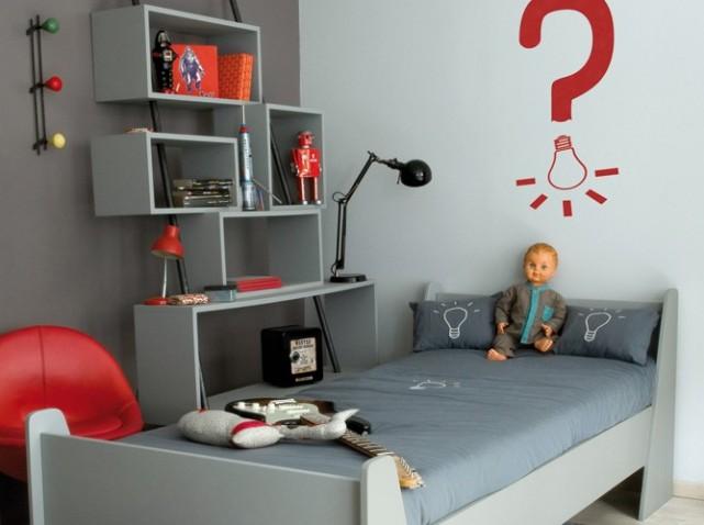 Mod le id e d co chambre b b gris et blanc - Deco chambre bebe gris et blanc ...