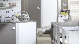 idée déco chambre bébé gris et blanc