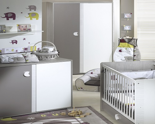 Id e d co chambre b b gris et blanc for Idee deco chambre bebe grise