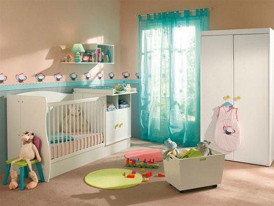 Chambre Bebe Gris Et Menthe : Decoration Pour Chambre Turquoise photo deco idee deco