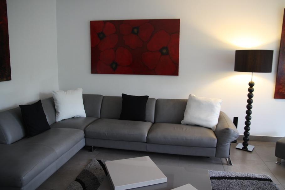 Style id e d co salon gris et blanc for Deco gris et blanc
