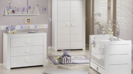 ambiance chambre bébé blanc