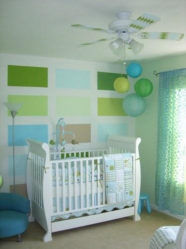 Mod le ambiance chambre b b bleu for Exemple deco chambre bebe