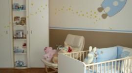 ambiance chambre bébé bleu