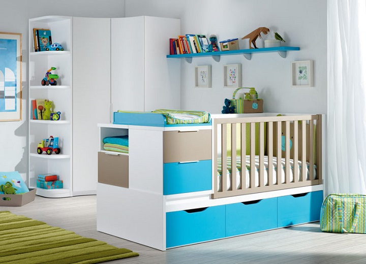 chambre bebe bleu atoll avec des id es. Black Bedroom Furniture Sets. Home Design Ideas