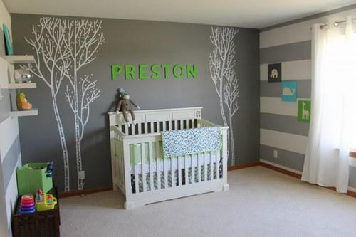 Style ambiance chambre b b gris et violet for Chambre grise et mauve bebe