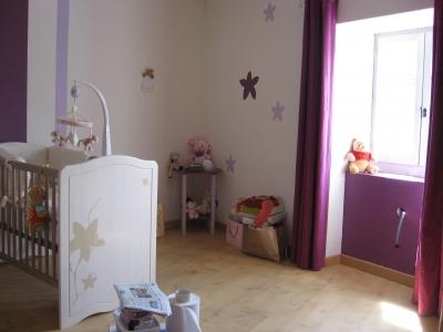 Ambiance chambre fille prune for Ambiance chambre fille