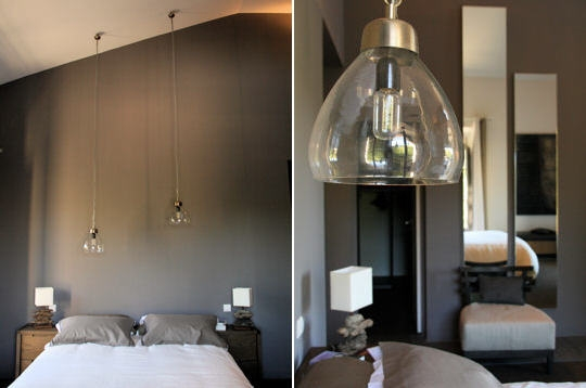 inspiration ambiance chambre gris et rouge. Black Bedroom Furniture Sets. Home Design Ideas