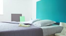 ambiance chambre turquoise