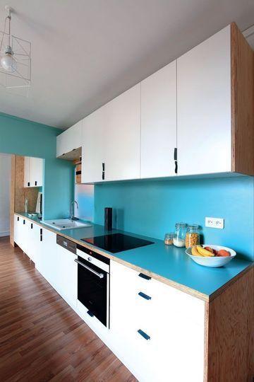 ambiance cuisine bleu. Black Bedroom Furniture Sets. Home Design Ideas