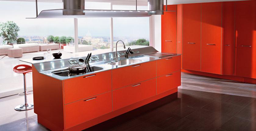 inspiration ambiance cuisine orange. Black Bedroom Furniture Sets. Home Design Ideas
