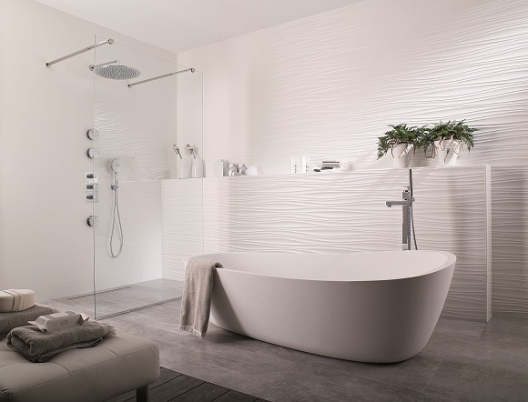 Photo ambiance salle de bain blanc Salle de bains blanc