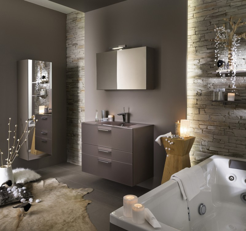 ambiance salle de bain marron. Black Bedroom Furniture Sets. Home Design Ideas