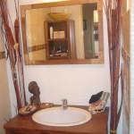 ambiance salle de bain marron