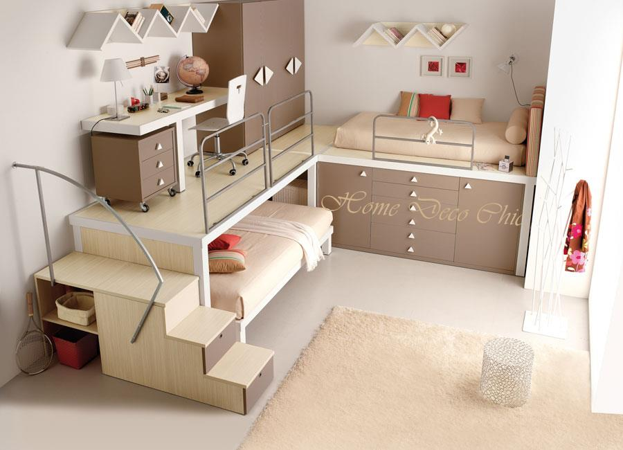 d233co chambre fille beige