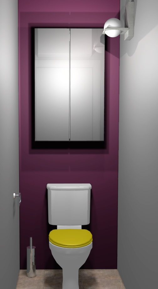 Jolie d co wc toilettes prune for Decoration maison wc design