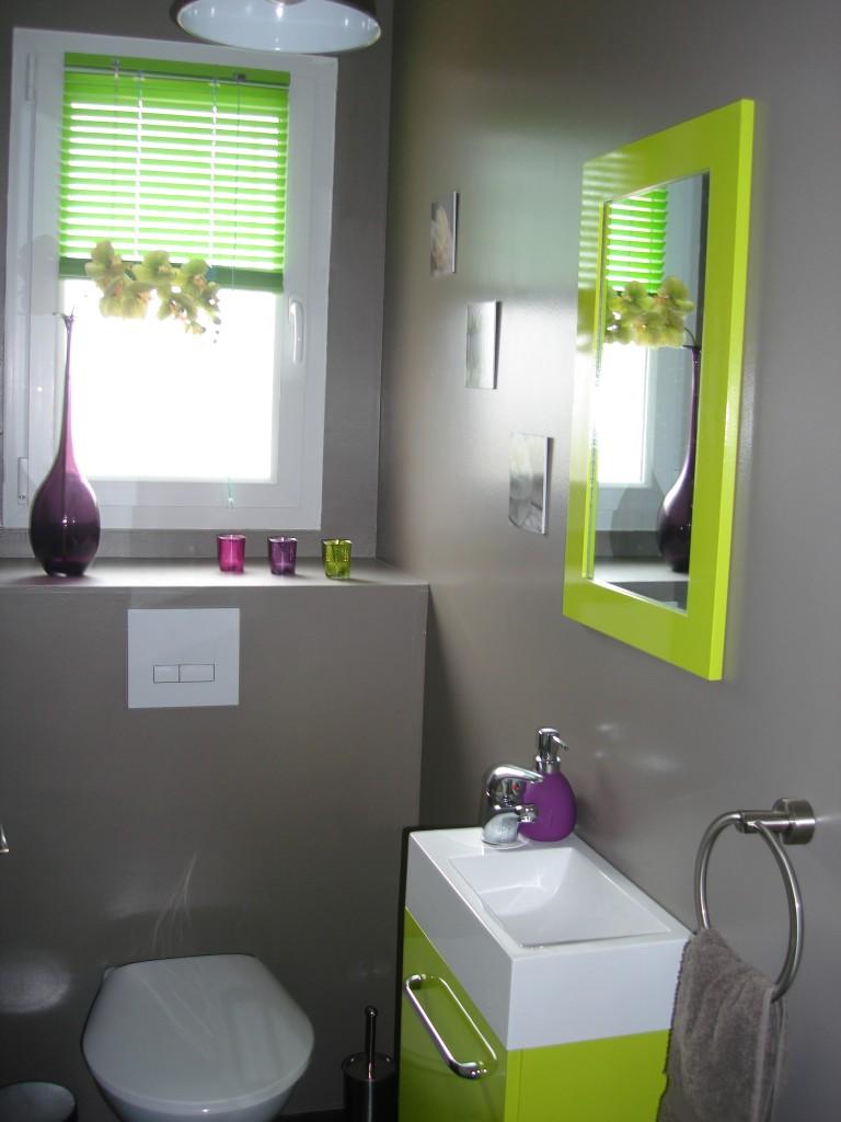 photo déco déco wc - toilettes prune modèle